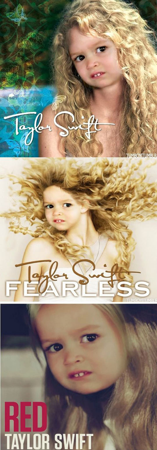 The new covers for Taylor Swift albums…
