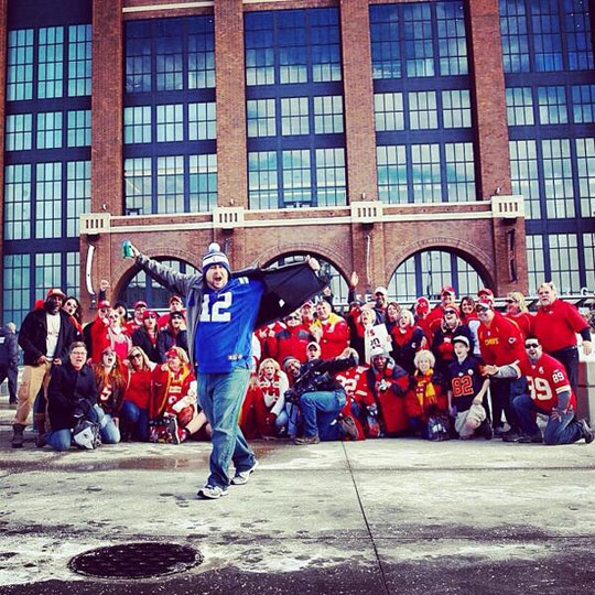 Colts fan photobomb…