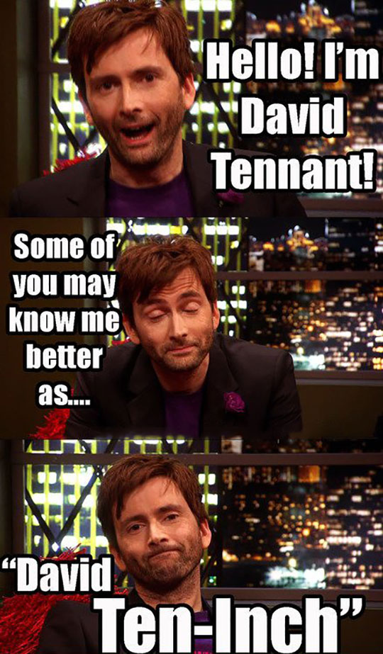 David Tennant's alter ego…