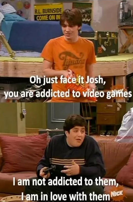 funny-Drake-Josh-addicted-video-games