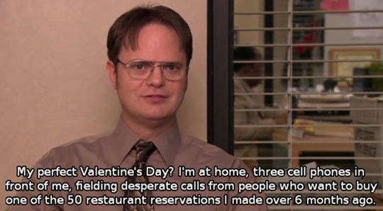A very Dwight Valentine's day…