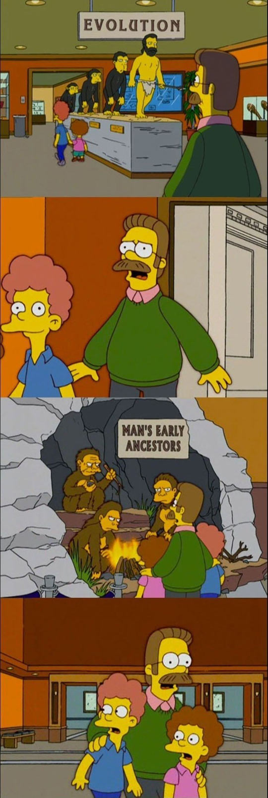 The Flanders family goes to the museum...