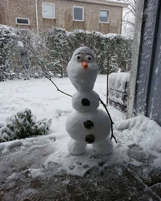 Say hello to Olaf the Danish snowman…