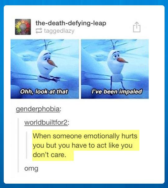 Emotionally hurt…