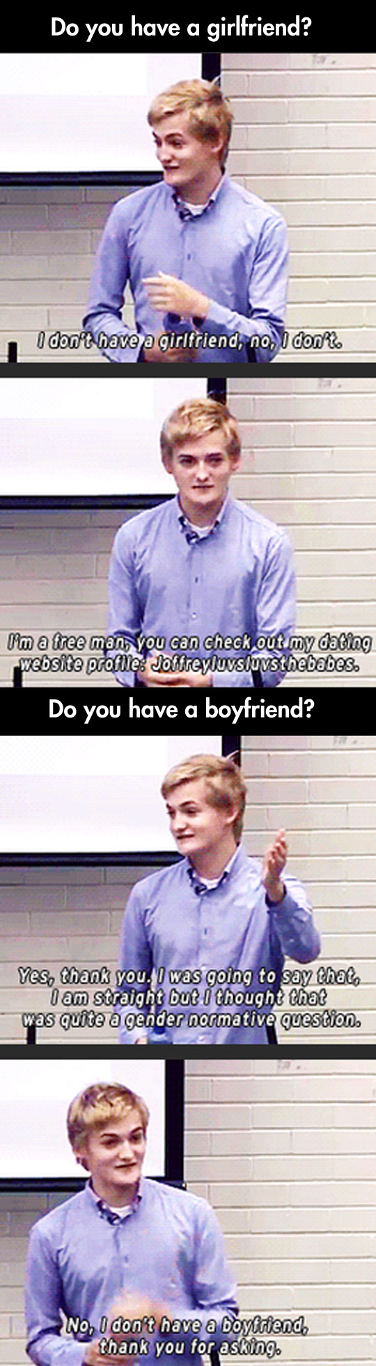 What an actually considerate and cool guy…