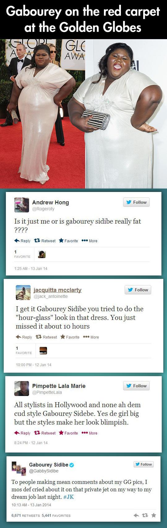 Gabourey Sidibe responds to her twitter trolls…