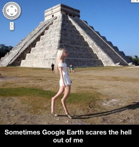Scary Google earth…