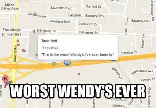 Thanks for the info Google Maps…