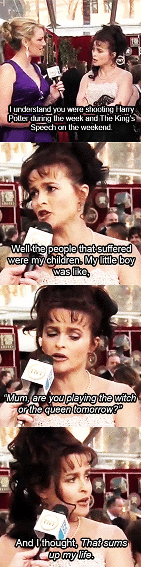 Helena Bonham Carter at the 2011 SAG Awards…