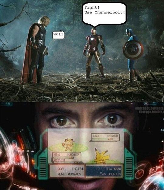 Iron man taking full advantage of his suit…