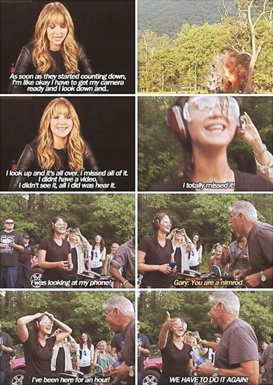 Just Jennifer being herself…