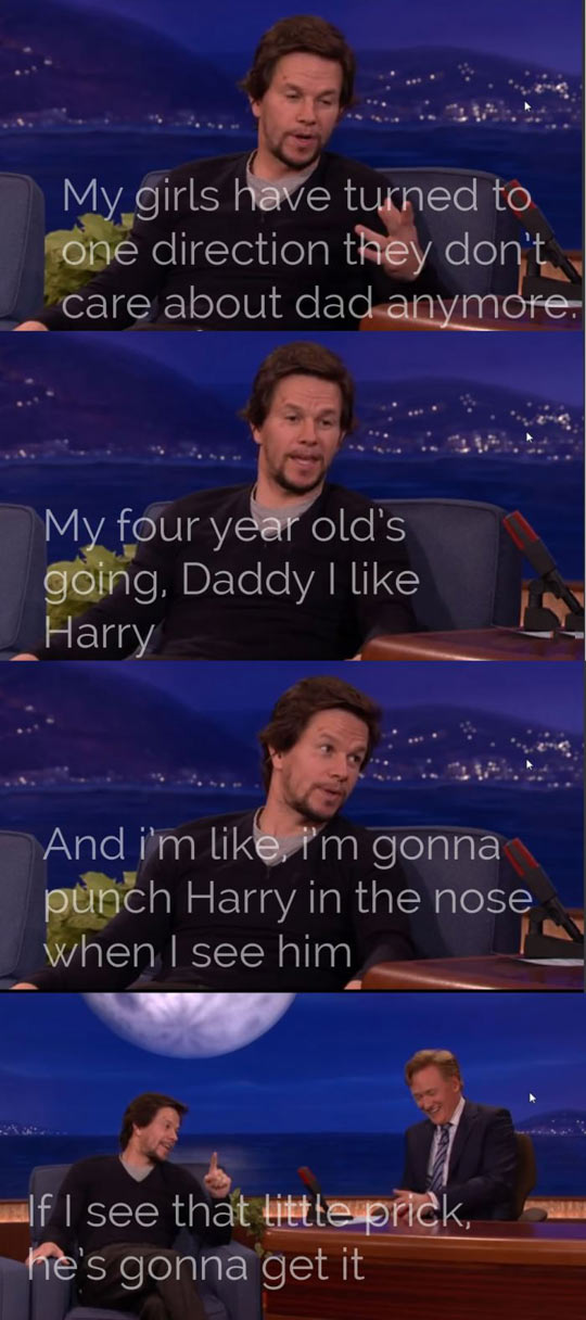 That's why I love Mark Wahlberg…