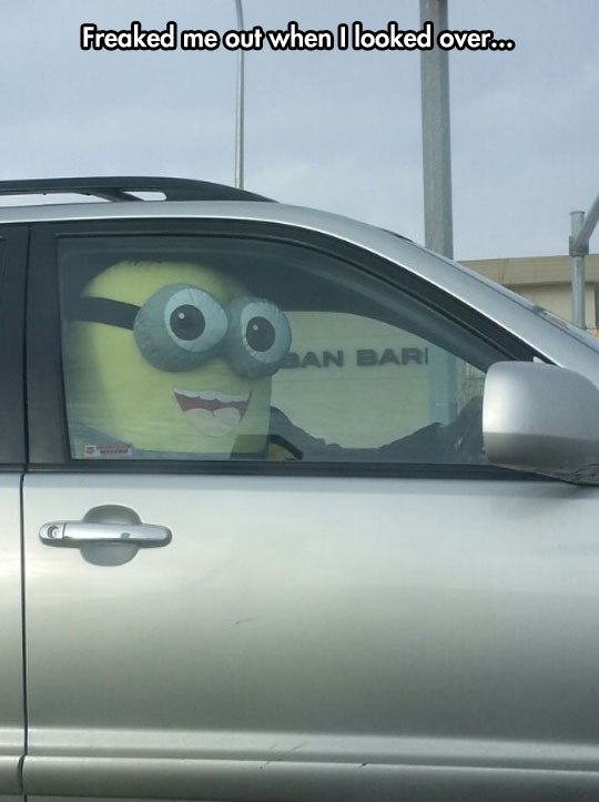 Some people will do anything to get in the carpool lane…