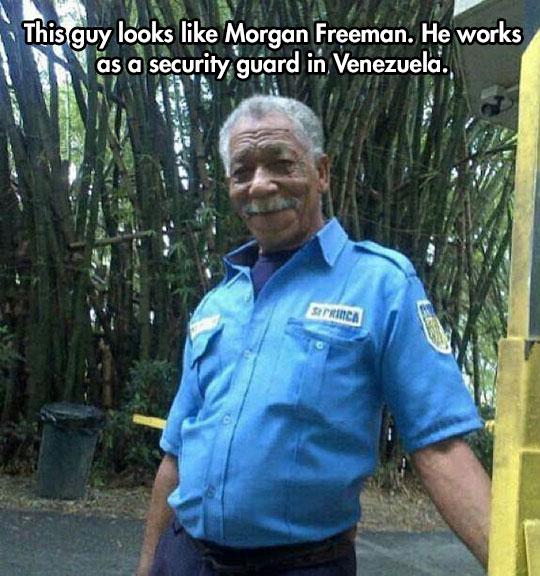 funny-Morgan-Freeman-lookalike-security-guard-Venezuela