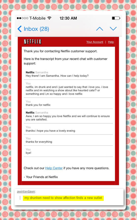 Thanks for everything Netflix…