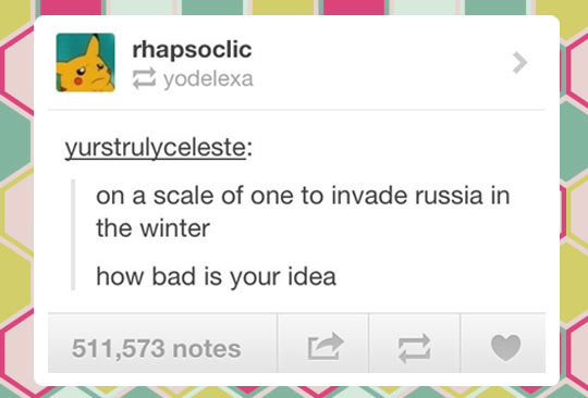 Bad idea scale…