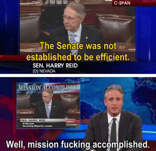 Mission accomplished Senate…