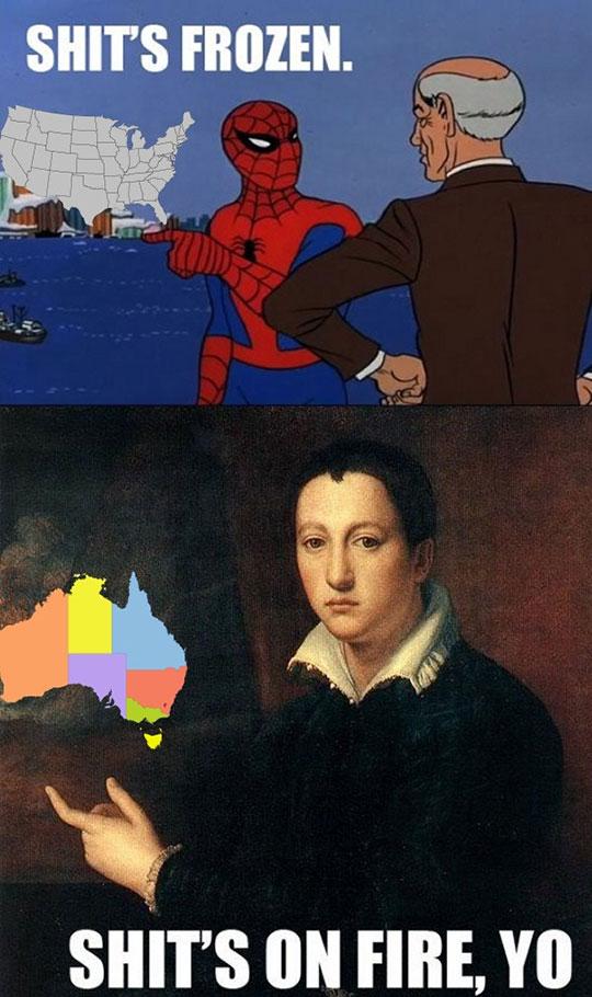 funny-Spiderman-US-frozen-Australia-temperature