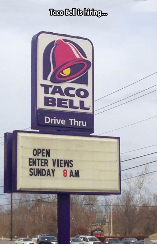 Taco Bell education…