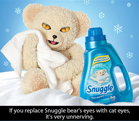 Evil Snuggle bear…