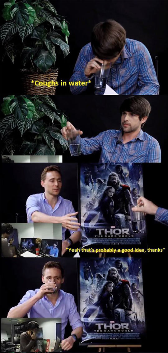 This is why I love Tom Hiddleston...