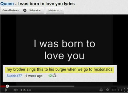 funny-YouTube-Queen-video-comment