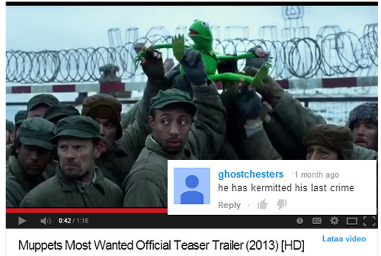 Kermit is in trouble…