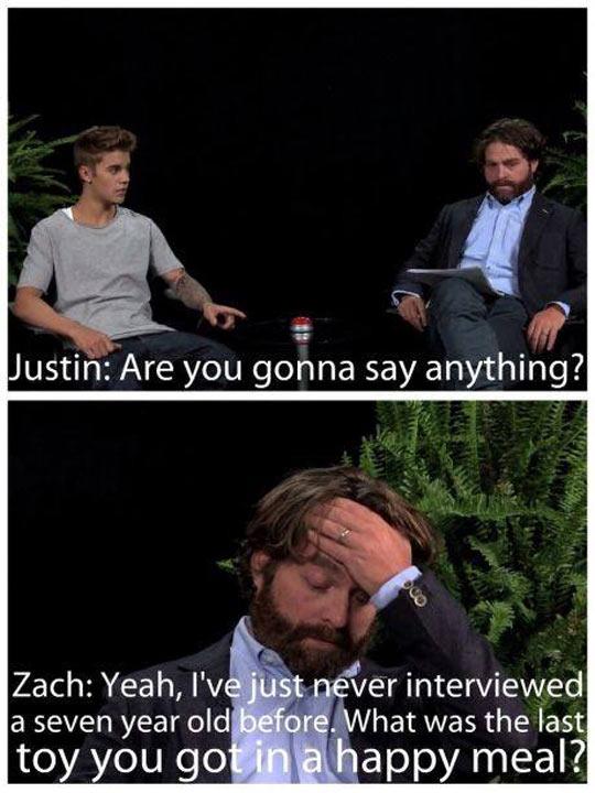 Interviewing Justin Bieber…