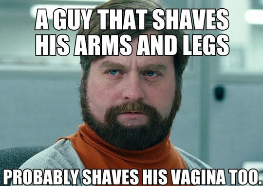 A guy that shaves…