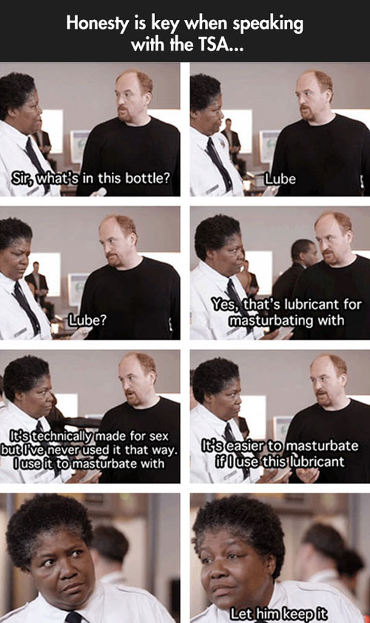 Luis CK dealing with the TSA…