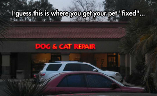 Get your pet 'fixed'…