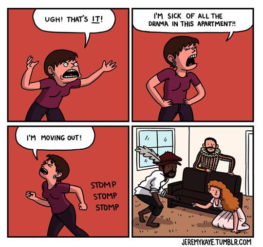 Apartment drama…