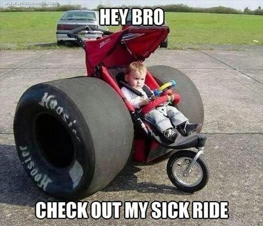 That baby stroller…