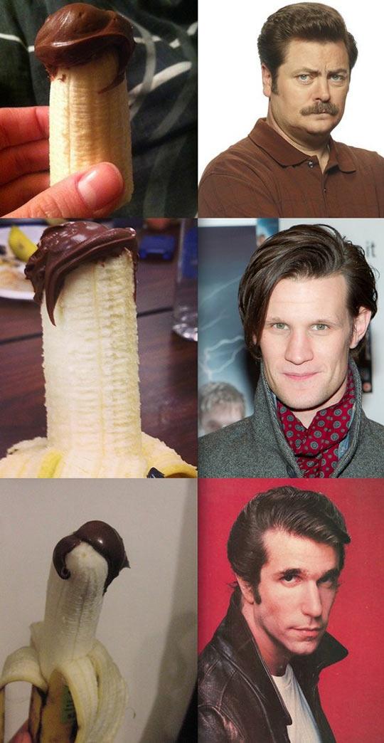 Three bananas that look like celebrities…