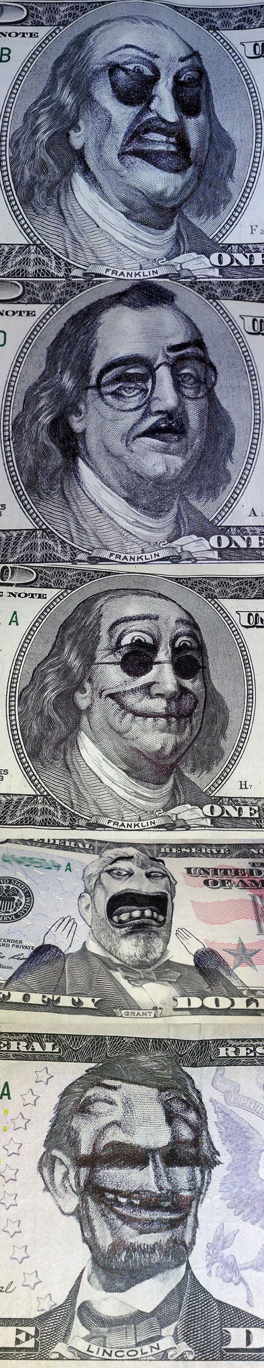 funny-bill-faces-painted-bored-Franklin
