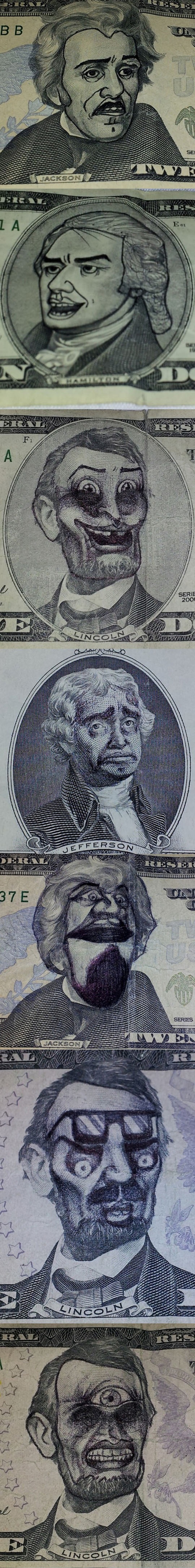 funny-bill-faces-painted-bored-Lincoln