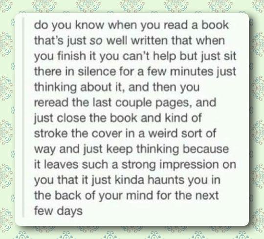 When books haunt you…