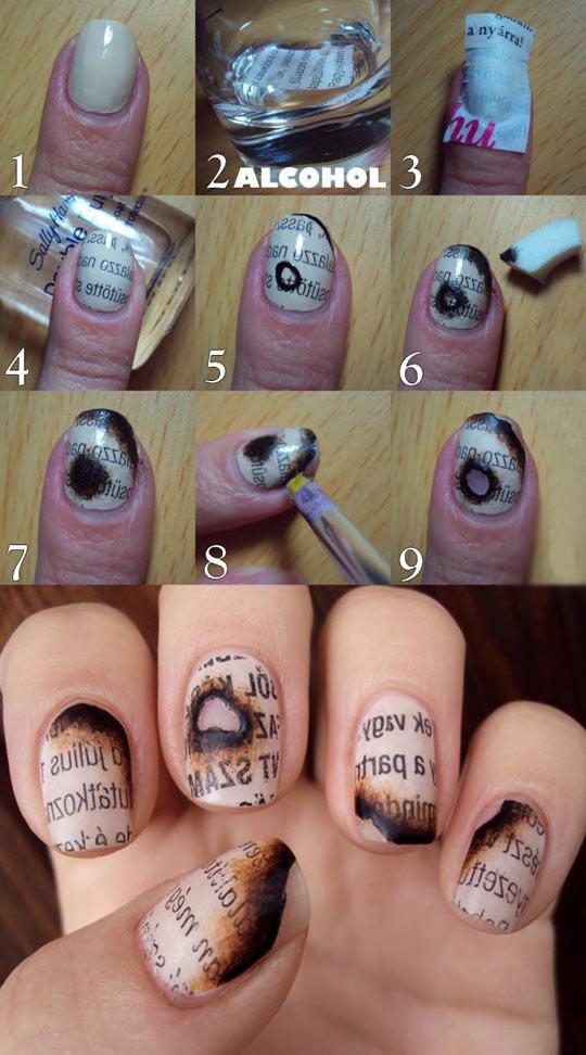 Burnt paper nails…
