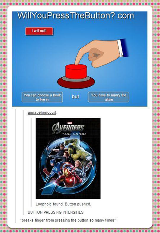 Pressing it to infinity…