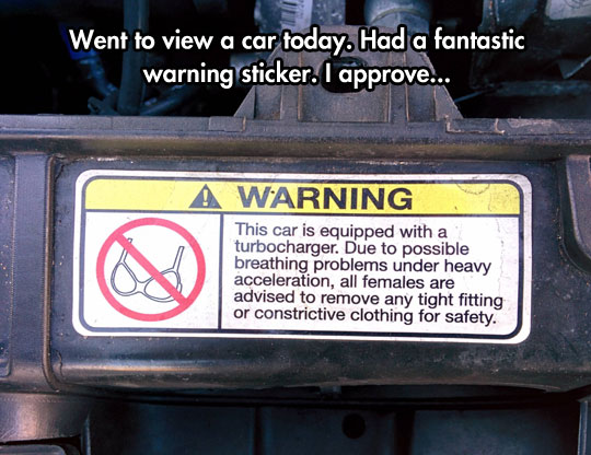 The breast bumper sticker…