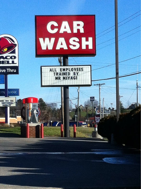 My small town car wash…