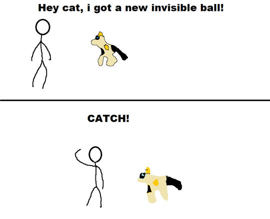 funny-cat-comic-catch-invisible-ball-bed-jump