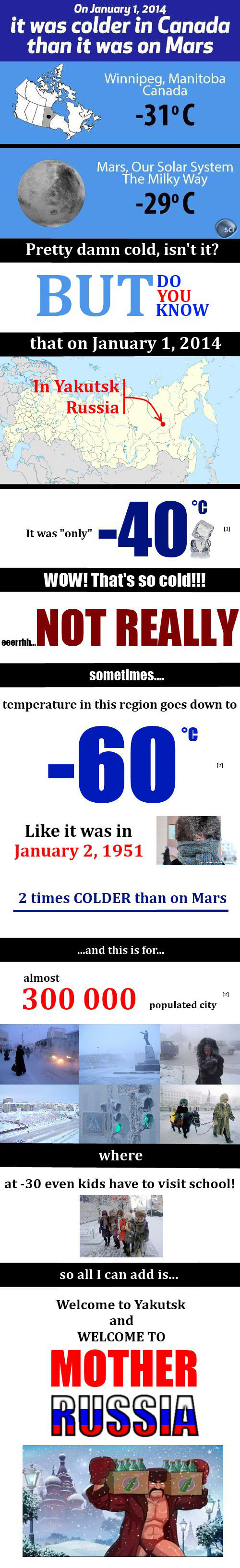 What do you think is really cold?