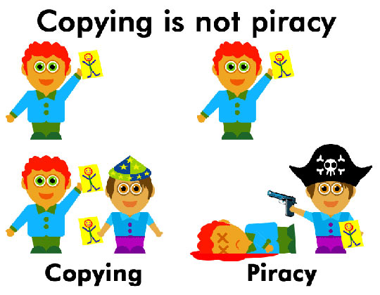 The difference between copying and piracy…