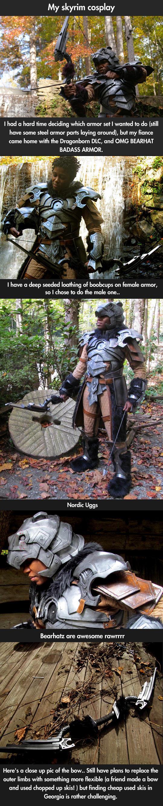 My skyrim cosplay…