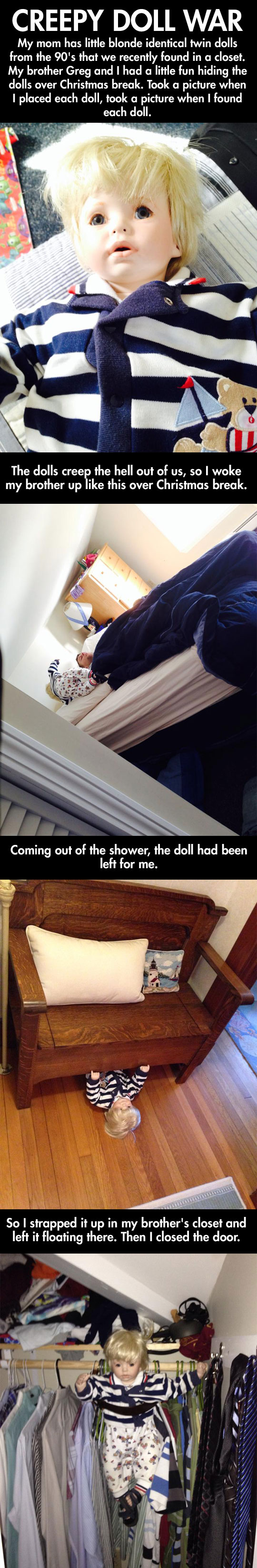 Creepy doll war...