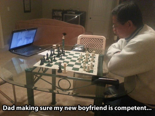 Asian test for new boyfriend…