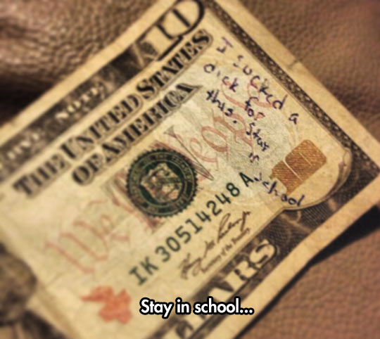 If money could talk…