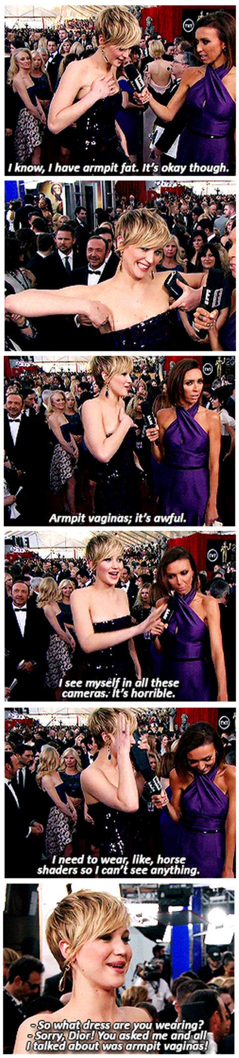 Jennifer Lawrence on the red carpet…
