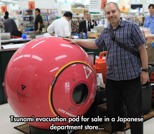 funny-evacuation-pod-store-Japan